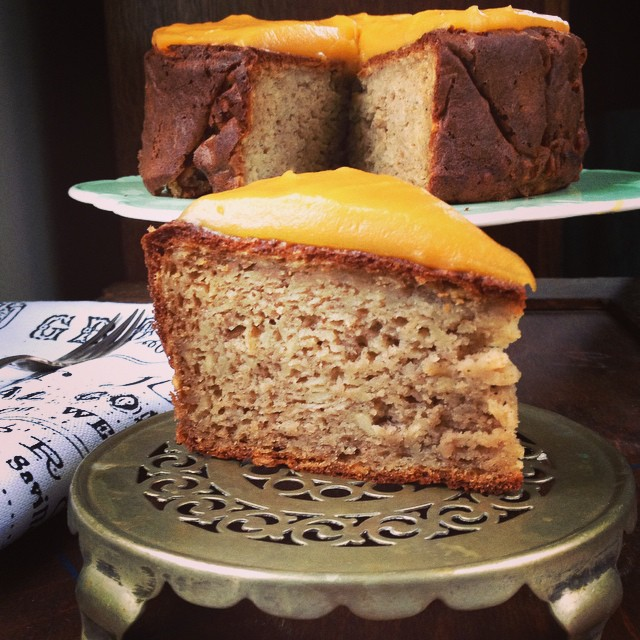 Parsnip Nutmeg Cake with Sweet Potato and Ginger Frosting