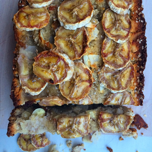 Banana Bread With Coconut, Nuts & Chia Seeds Served With Nutella
