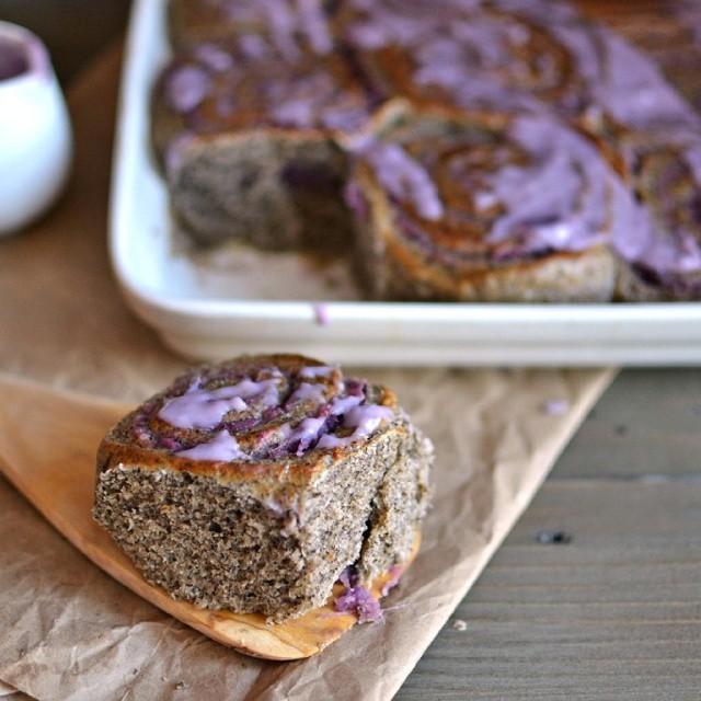 Purple Sweet Potato & Buckwheat Rolls