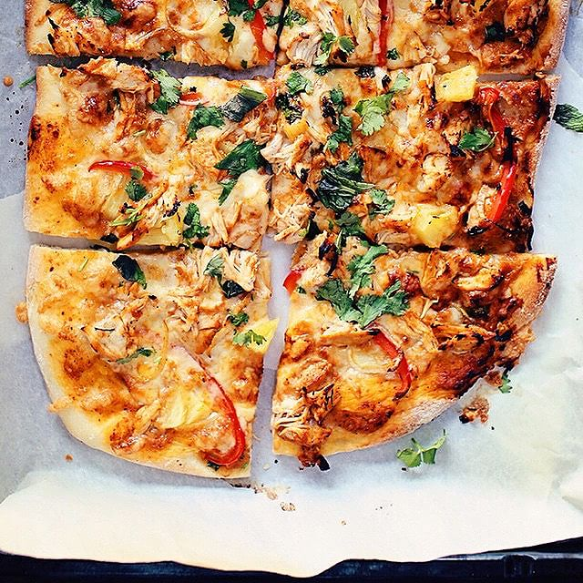 Butter Chicken Pizza With Curry Sauce