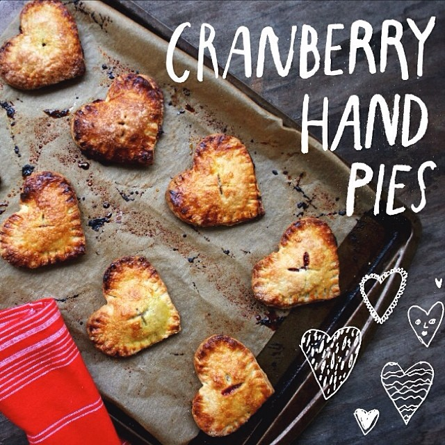 Heart-shaped Cranberry Hand Pies
