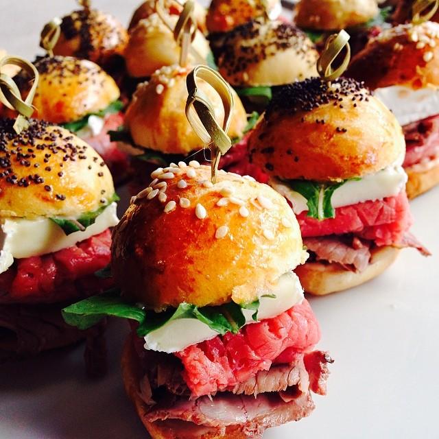 Mini Brioch Roast Beef Sandwiches