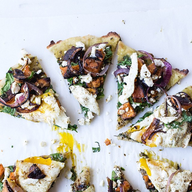 Sweet Potato Flatbread Pizza