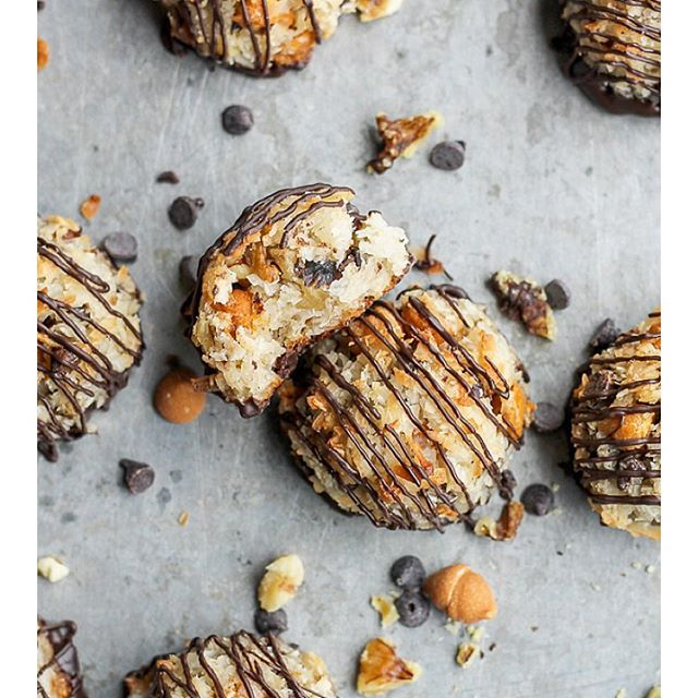 Macaroons With Chocolate, Butterscotch And Walnuts