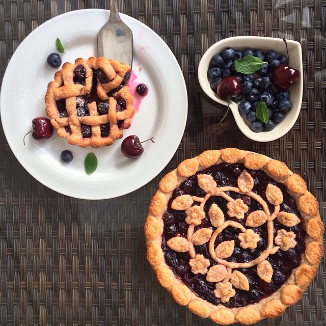 Fresh Cherry, Blueberry &chia Seed Pie