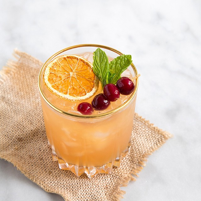 Cranberry & Orange Bourbon Cocktail