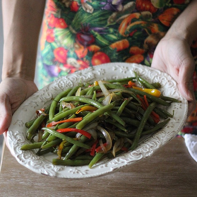 Sweet Pepper Green Beans or String beans for my southern folk. On the blog.