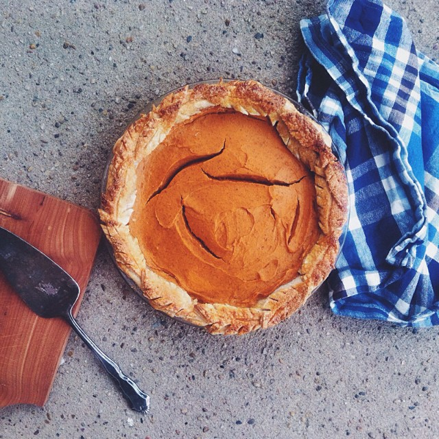 Sweet Potato Pie With Cornmeal Crust With Whipped Cream