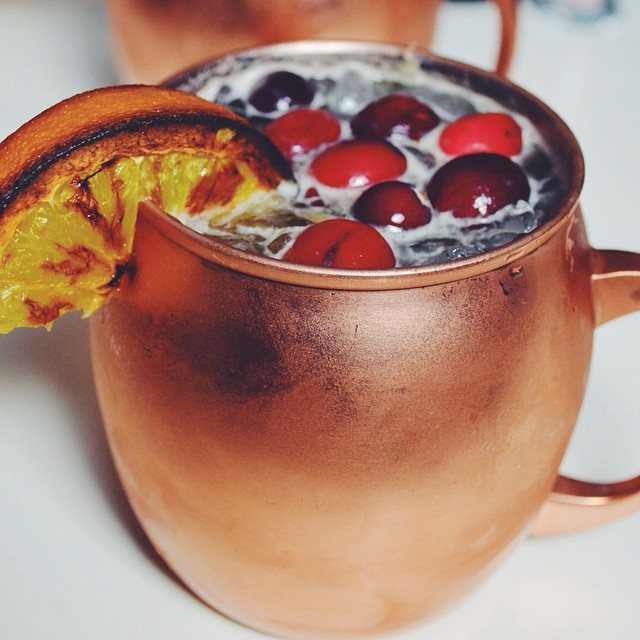 Cranberry And Orange Spice Ginger Beer Moscow Mules