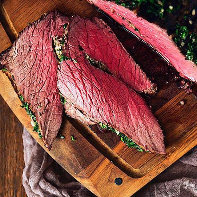 Herb Crusted Top Round Roast Beef