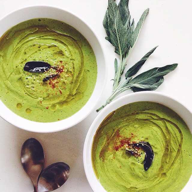 RECIPE: <br><br> Creamy Zucchini Soup with Hemp Seeds & Crispy Sage. <br><br> Ingredients <br><br> 4…