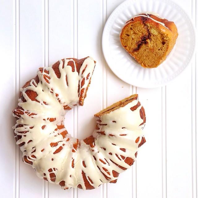Sweet Potato Bundt Cake With Pecan Streusel Maple Glaze