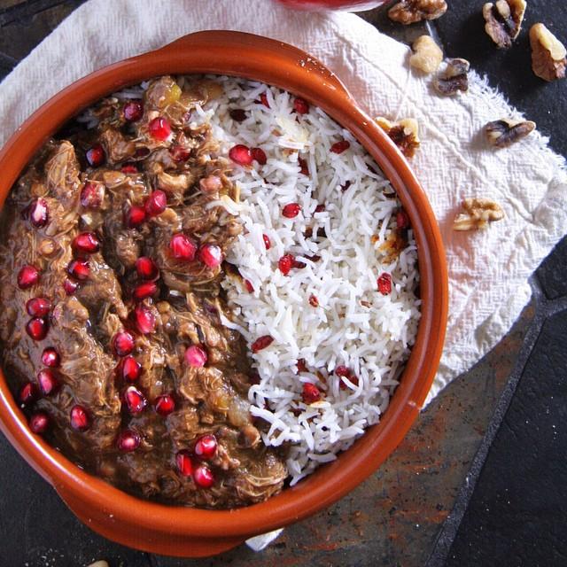 Persian Chicken And Squash Stew With Pomegranate (khoresh-e FesenjĀn)