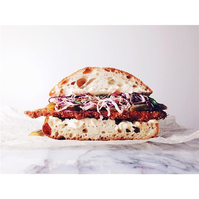 Schnitzel Sandwich With Sumac Slaw