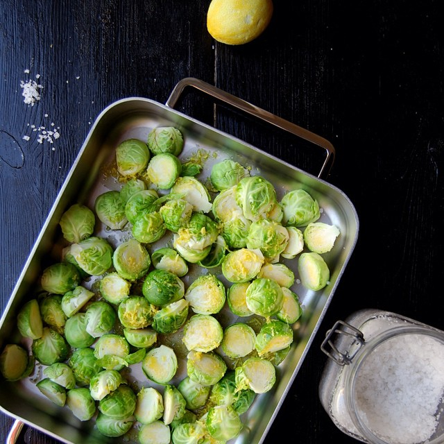Roasted Brussels Sprouts With Lemon And Ginger