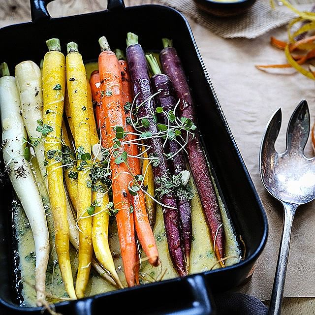 Roasted Carrots In Cream Sauce