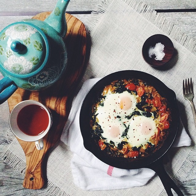 Moroccan-style Baked Eggs