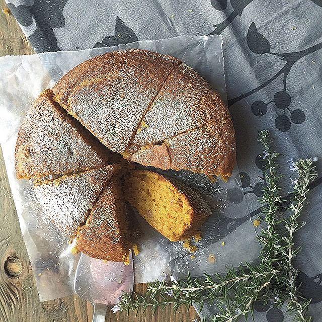 Brown Butter Pumpkin Cake With Cardamom, Saffron & Lemon Zest