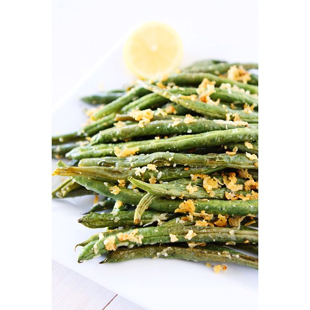 Whole Roasted Lemon And Parmesan Green Beans