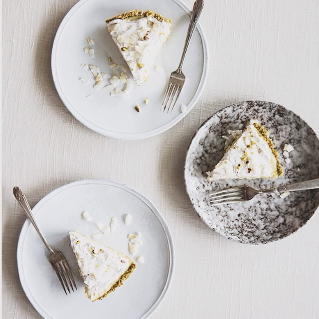 coconut cream pie with a toasted coconut pistachio crust (df+ gf + so much omg)