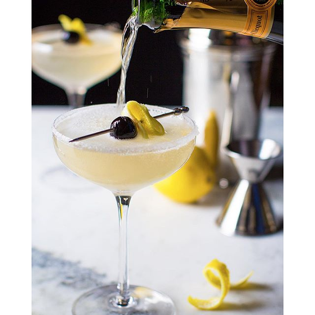 I'm celebrating New Year's Eve with a French 75! Cheers to 2016 -