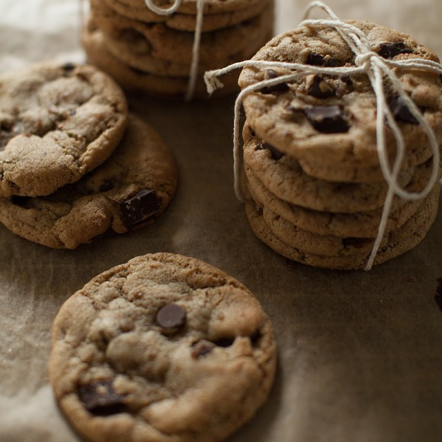 Salted Espresso Chocolate Chip Cookies