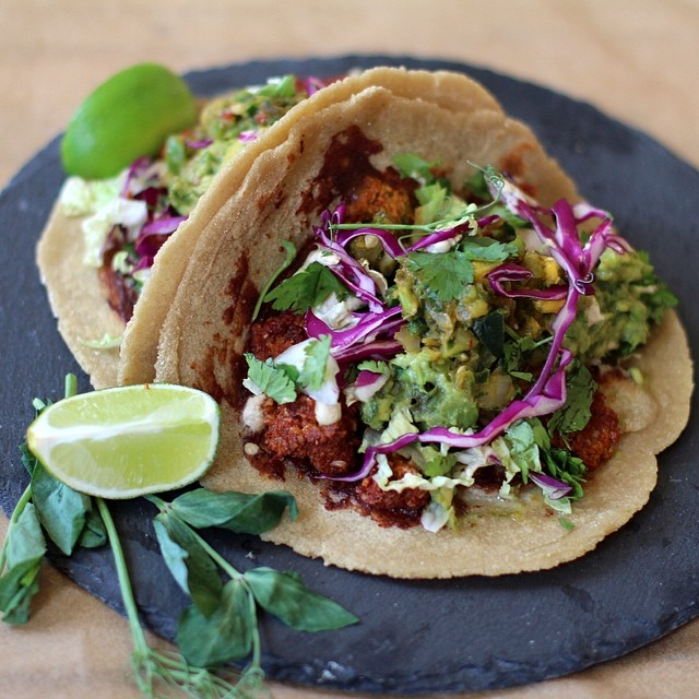 "Vegan Walnut ""meat"" Tacos"