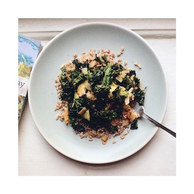 Kale & Coconut Farro Salad