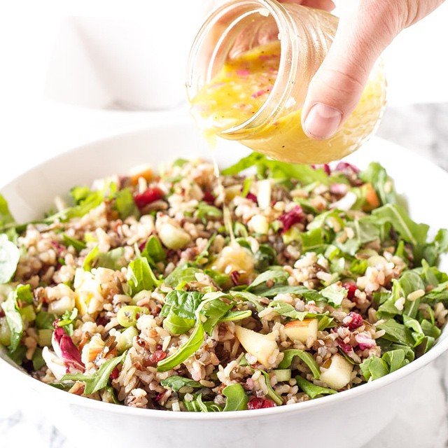 Kale & Wild Rice Salad With Apple, Celery & Cranberries