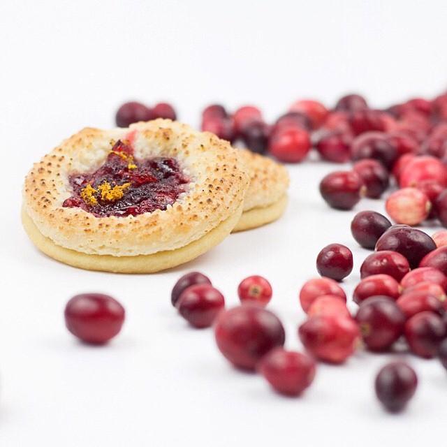 Cranberry Marzipan Cookies