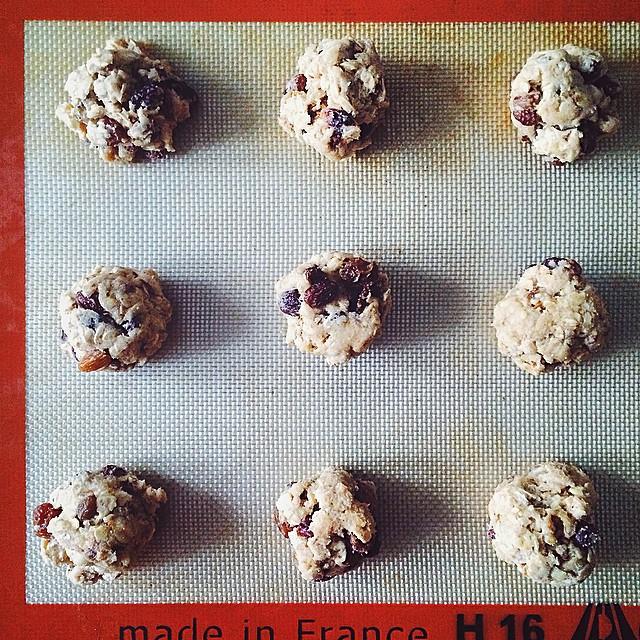 Oatmeal Rum Raisin Walnut Cookies