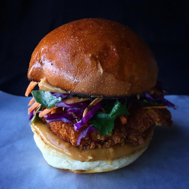 Asian Crispy Chicken Burger By Christinavlahoulis Quick Easy Recipe The Feedfeed