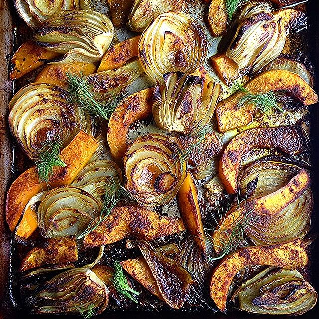 Roasted Fennel, Butternut Squash And Onions