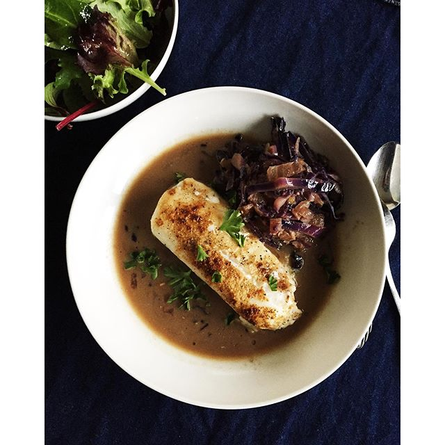 Ginger Cod With Coconut Miso, Cabbage & Seaweed