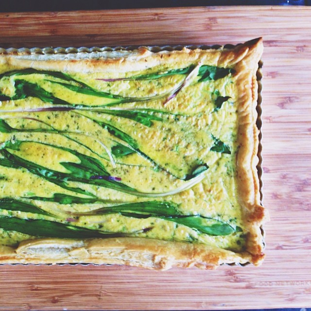 Ramp And Parmesan Tart