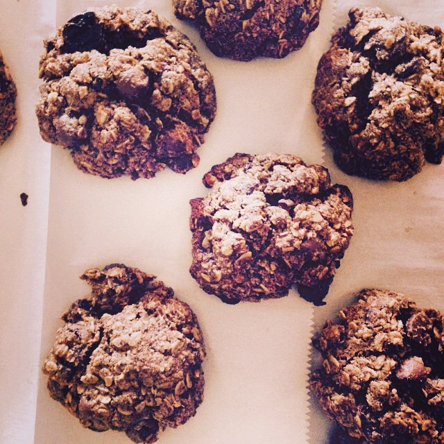 Spent Grain Dark Chocolate Cherry Cookies