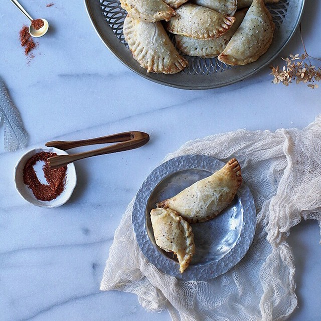 Chipotle Butternut Squash Empanadas With Thyme, Sage & Cheese