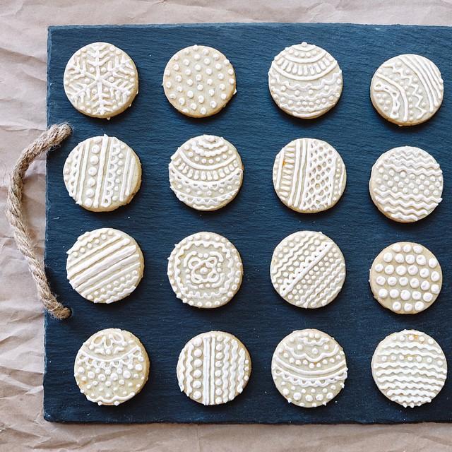 Orange Cardamom Butter Cookies