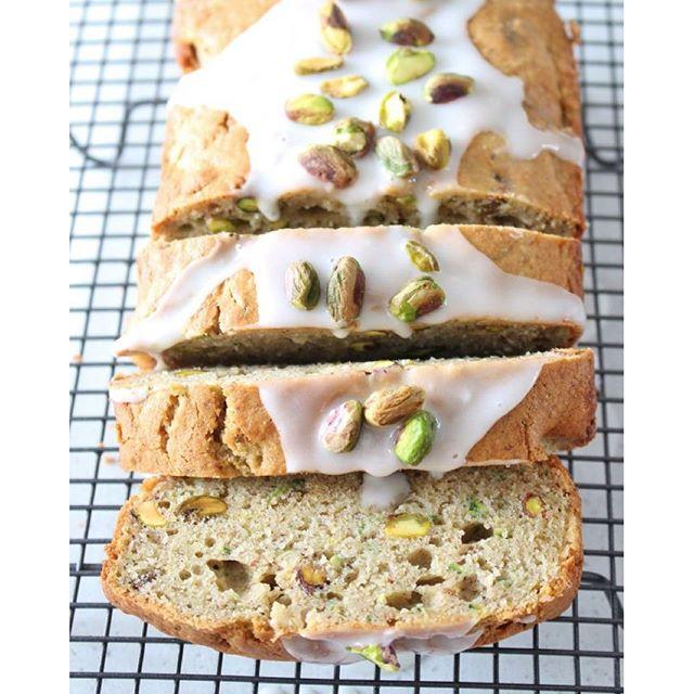 Glazed Lemon And Pistachio Zucchini Bread
