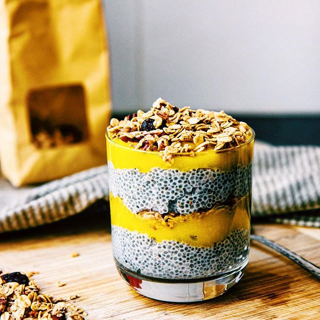 Layered Granola Parfait With Mango, Coconut & Chia Seeds ...