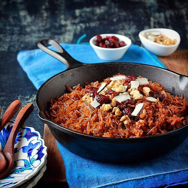 Jaggery Rice With Coconut Slices