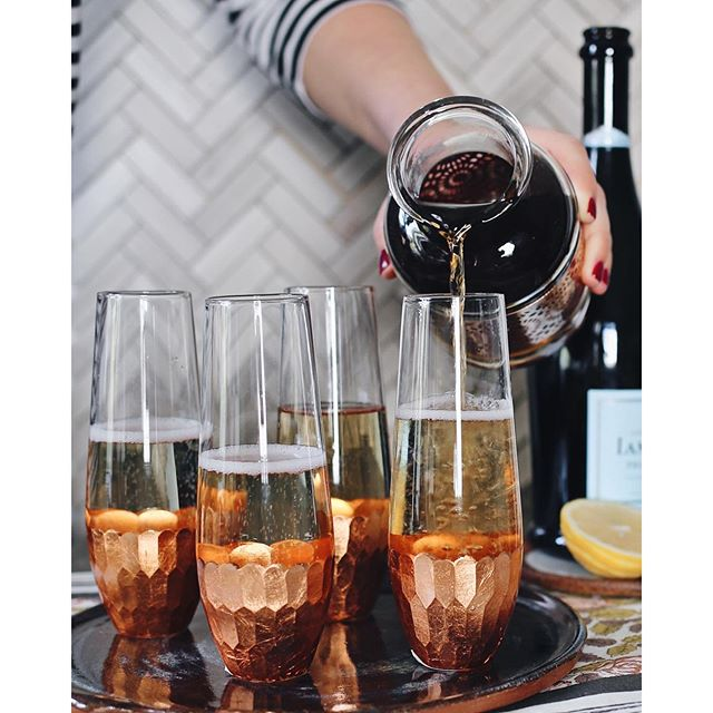 Earl Grey Syrup Infused Champagne