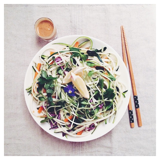 Simple And Light Zoodle Salad