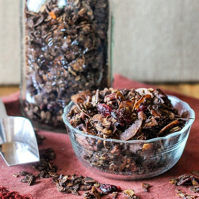 Dark Chocolate & Cranberry-pecan Granola