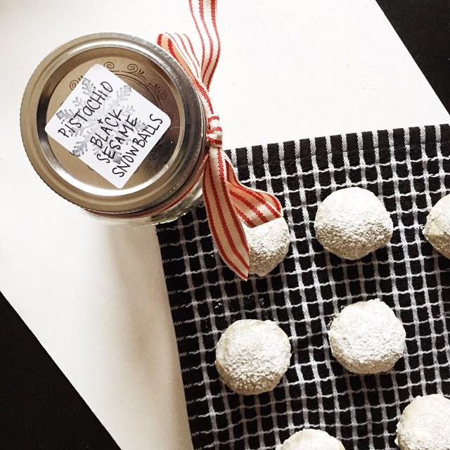 Pistachio + Black Sesame Snowballs