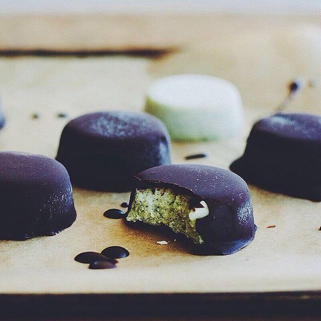 Dark Chocolate Peppermint Ice Cream Bites