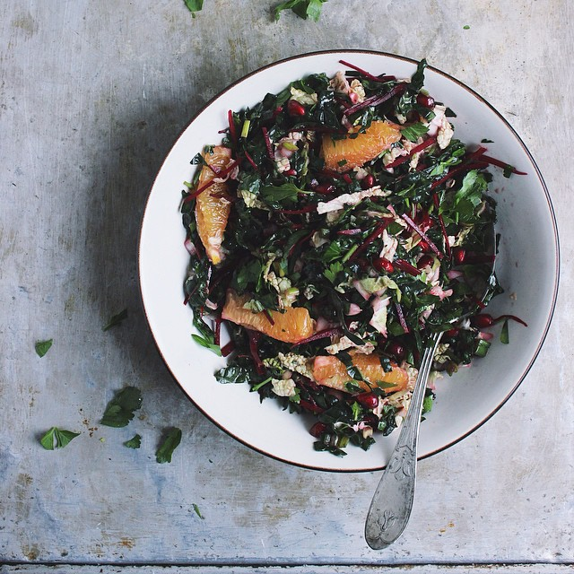 Winter Chopped Kale Salad with a Meyer Lemon Vinaigrette
