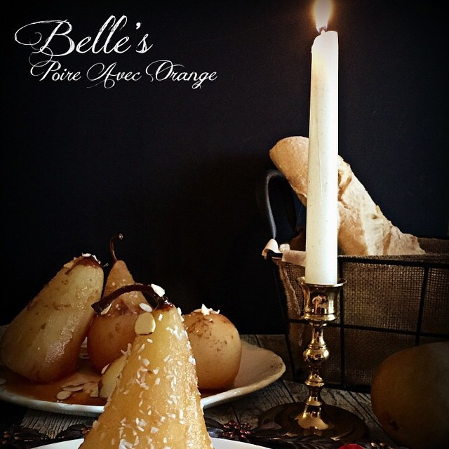 French Orange Poached Pears