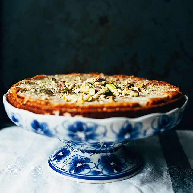 Almond, Pistachio And Pear Torte