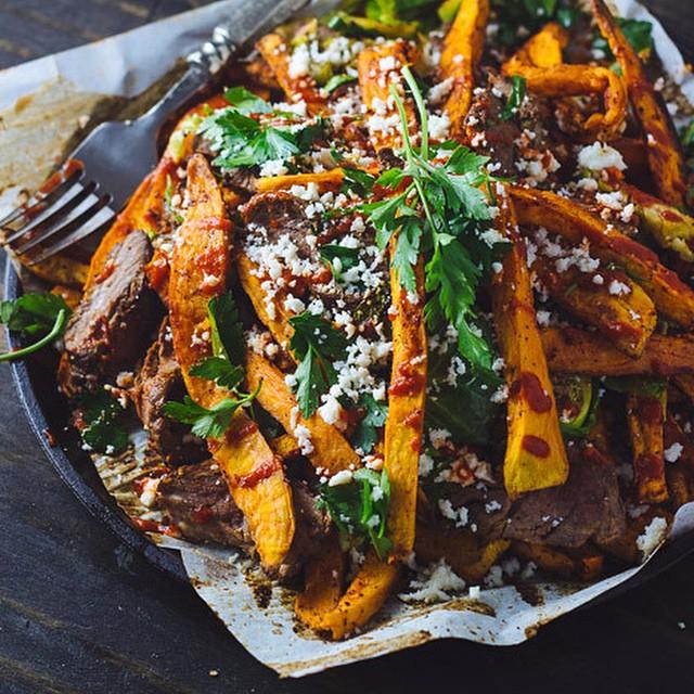 Smokey Steak And Sweet Potato Fries
